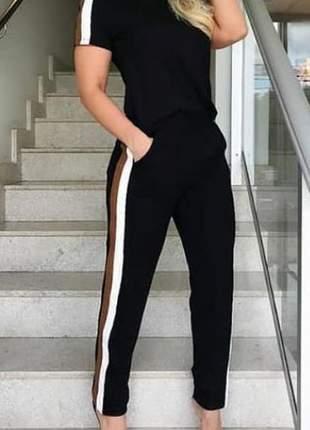 Conjunto calça e blusa moletinho com elastano 2019