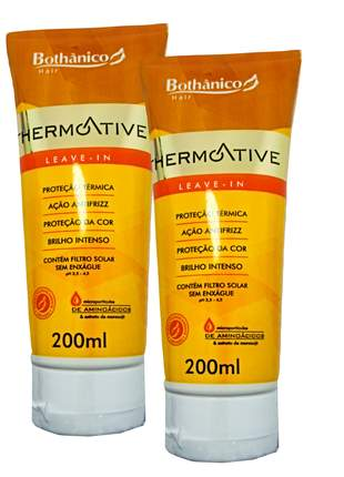 Leave in termoativo creme sem enxague bothanico hair 200ml 02 unidades