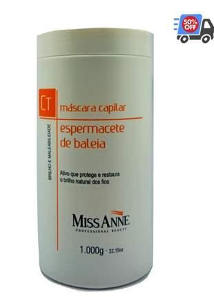 Miss anne espermacete de baleira mascara capilar 1000g liberada