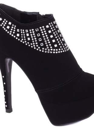 Ankle boot meia pata  feminina