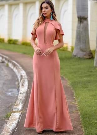 Vestido De Madrinha Salmão Compre Online ótimos Preços