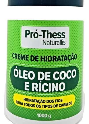 Creme hidratação pro thess óleo de coco e ricino 1000g