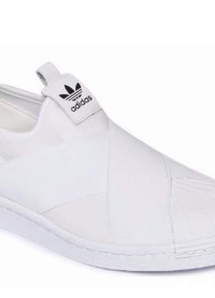 Tênis adidas slip on elástico branco