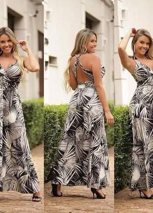 Vestido feminino longo coleção verão 2019
