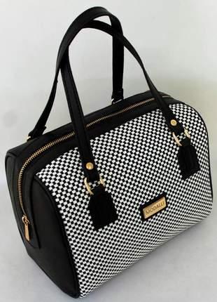Bolsa báu com tressê preta