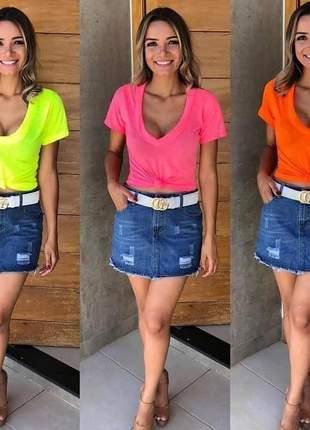 Blusinha feminina camiseta podrinha moda blogueira ref 234b
