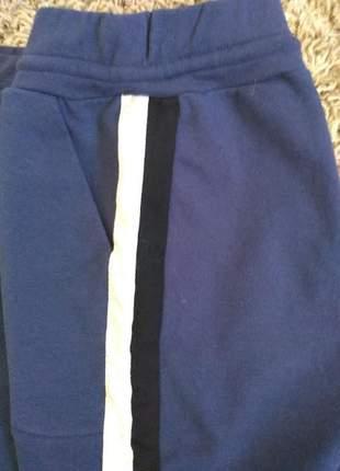 Kit com 02 shorts plus size moletinho com elastano e faixas lindos e comfortaveis