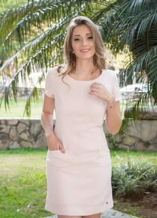 Vestido feminino curto em gripir rendas nas costas