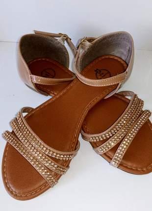 Sandália de strass  sapatilha feminina