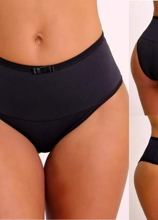 Calcinha calçola plus size cintura alta cós duplo do 48 a 50