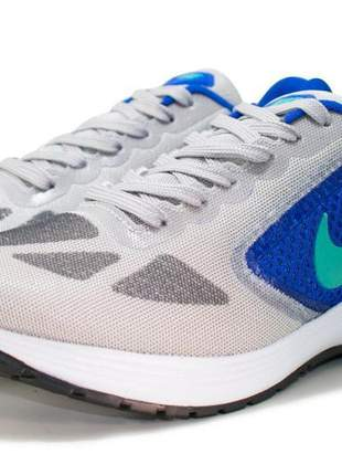 Tênis feminino nike running ll cinza/azul