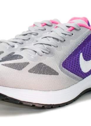 Tênis feminino nike running ll cinza/lilas