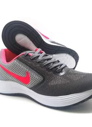 Tênis feminino nike running ll cinza/pink