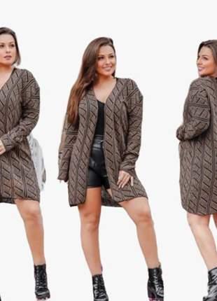 Casaquinho blusa tricot feminino cardigan croche ref 673b