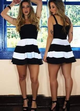 Vestido feminino saia godê duas cores ref: v0004