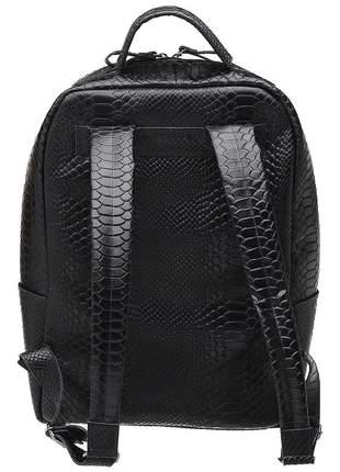 Mochila unissex tiracolo notebook couro legítimo m01 preto