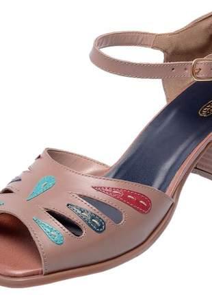 Sandália bw retro em couro legítimo 3154