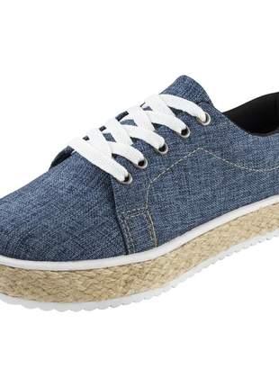 Tênis flatform c/ corda di stefanni mescla jeans