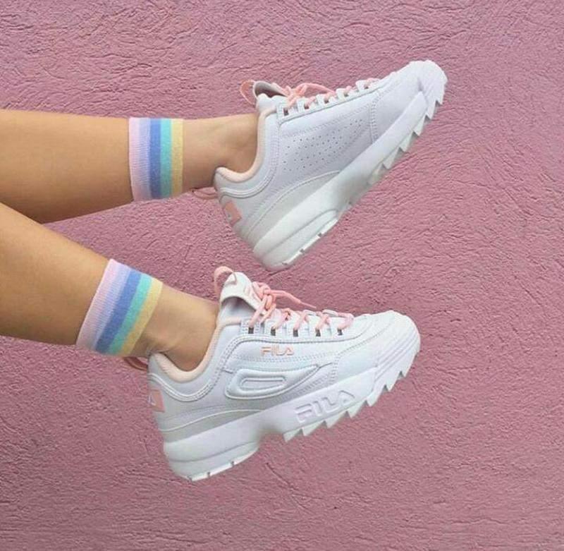 Tênis fila disruptor 2 branco rosa - R$ 119.90 | SHAFA - O melhor da moda  feminina