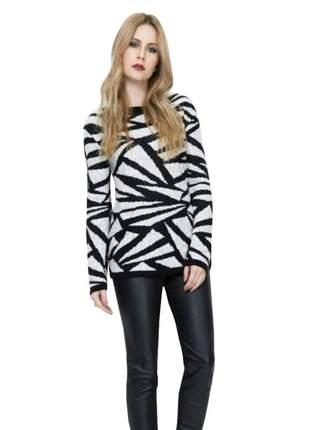 Blusa básica feminina tricot suéter de inverno malha de frio