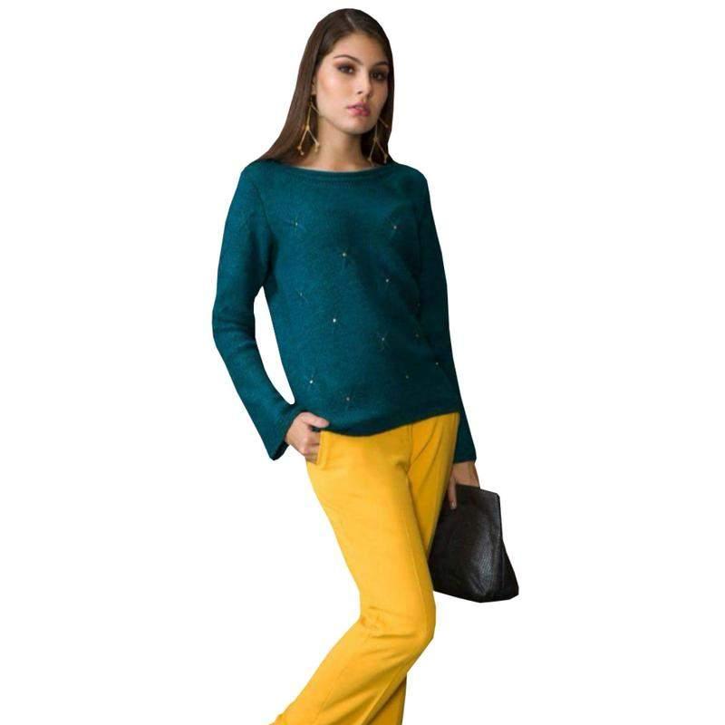 2a8ad14c29 Blusa feminina de tricot manga longa moda evangélica social - R ...