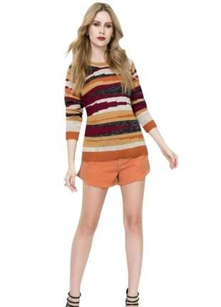 Blusa de tricot básica moda social suéter feminino de frio