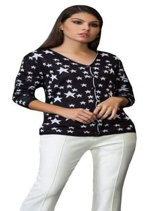 Cardigan de lã casaquinho feminino jaqueta de frio tricot