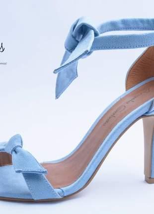 Sandália clarita inspired azul clara