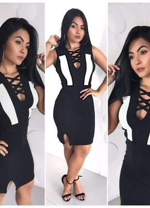 Vestido fenda desenvolvido em crepe dior - 014