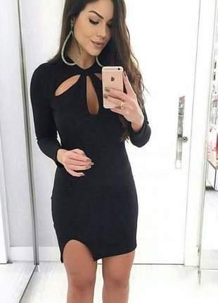 Vestido fenda desenvolvido em crepe dior - 025