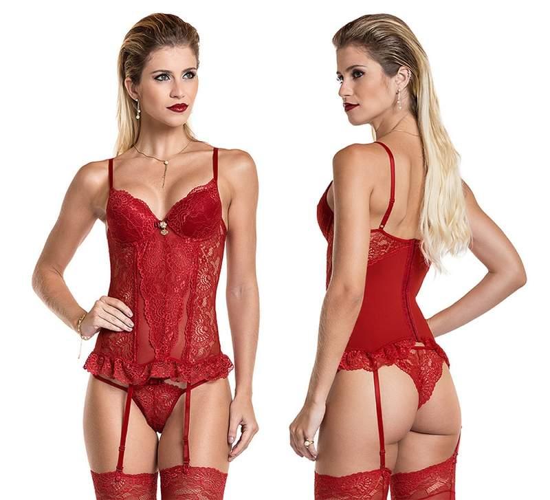 8db76cd9547965 Espartilho luxo sexy completo cinta liga meia 7/8 e calcinha - R$ 93.00 |  SHAFA - O melhor da moda feminina
