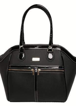 Bolsa com verniz preta
