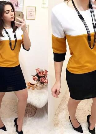 Vestido midi desenvolvido em crepe dior - 046