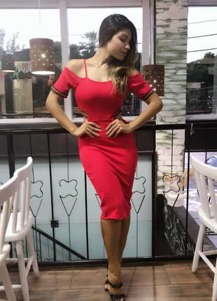 Vestido midi desenvolvido em crepe dior - 065