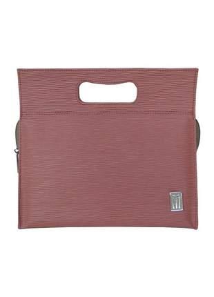 Bolsa térmica fitness premium pequena couro raízes - mille. rosa