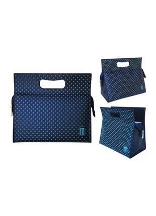 Bolsa térmica fashion premium pequena couro silk poá - mille