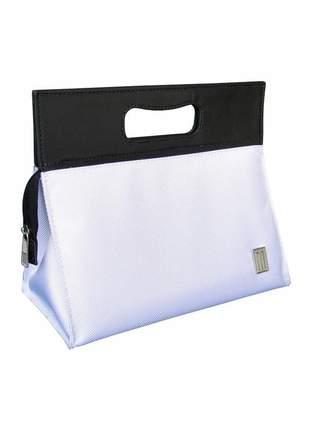 Bolsa térmica fitness premium pequena nylon poliéster  mille - branco