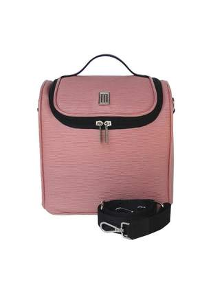 Bolsa térmica fitness premium m couro gravação raízes- mille - rosa