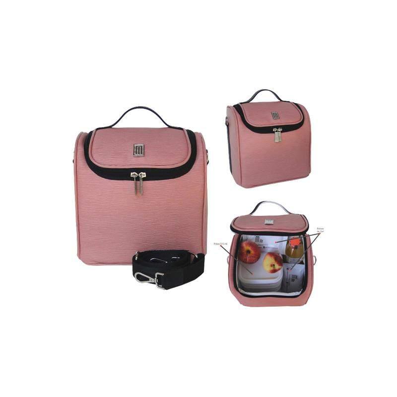 4464e92fd ... Bolsa térmica fitness premium m couro gravação raízes- mille - rosa4