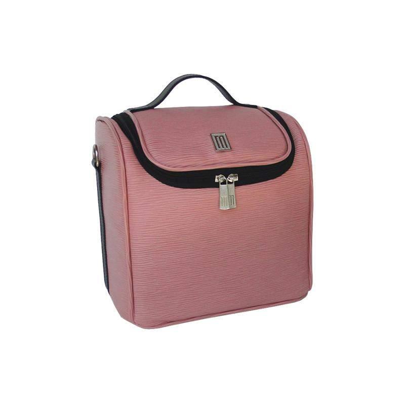 a59aa3e16 ... Bolsa térmica fitness premium m couro gravação raízes- mille - rosa3 ...