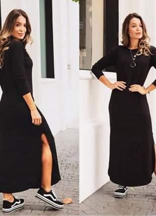 Vestido longo fendas