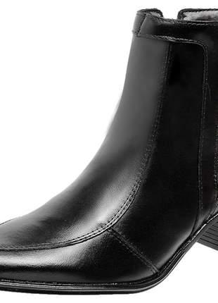 Bota botina em couro legítimo 1904 preto - promoção