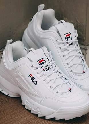 a3012ef8e963a Tênis fila disruptor branco feminino - R$ 119.90 (esportivos, de ...