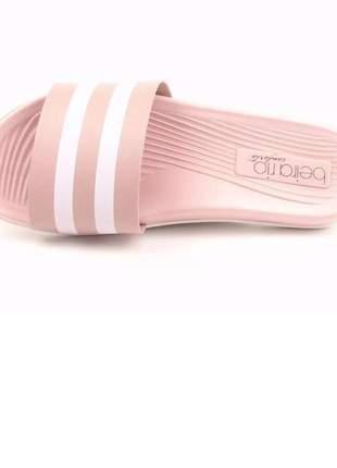 Chinelo slide feminino beira rio conforto 8360.102 na cor rosa