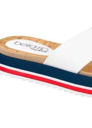 Sandalia chinelo slide tamanco feminino beira rio tratorado