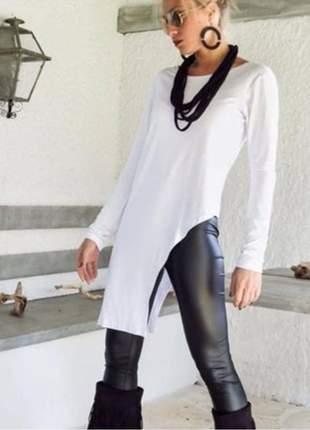 Blusa manga longa  mullet