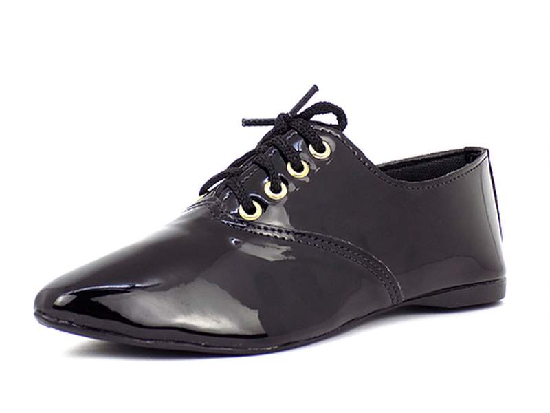 8ff65c7ce Sapato oxford bico fino verniz - R$ 59.90 (solado em borracha ...