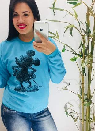 Moletom azul mickey