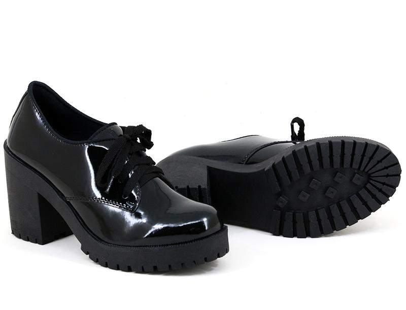 9a0cebe26 ... Sapato oxford feminino salto grosso tratorado verniz preto2 ...