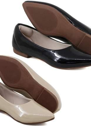 d5576b060 Kit 2 pares de sapatilhas bico fino verniz nude e vermelho - R ...